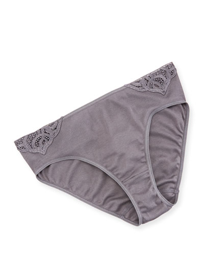 Ella Seamless Lace-Inset High-Leg Briefs