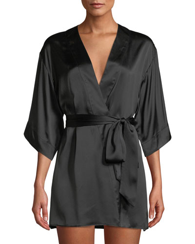 Silk Short Robe Quick Look. Kiki De Montparnasse be328a087