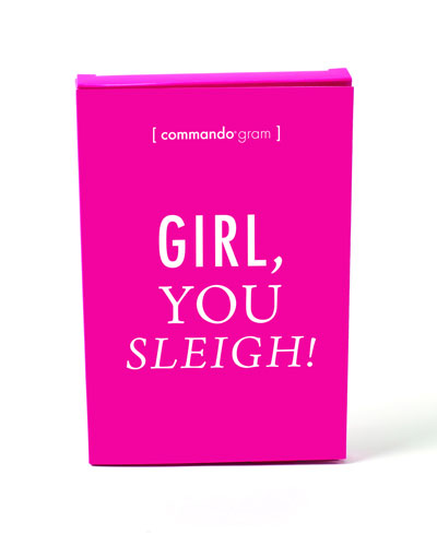 Girl  You Sleigh Gift Boxed Thong Underwear