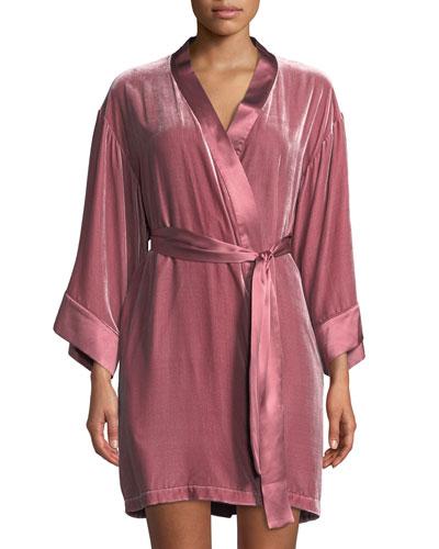 Dany Velour Short Robe
