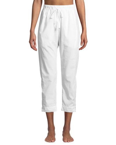 Draper Crop Poplin Lounge Pants