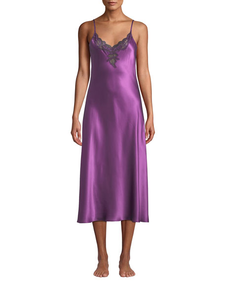 Christine Lingerie Kaleidoscope Bijoux Silk Nightgown