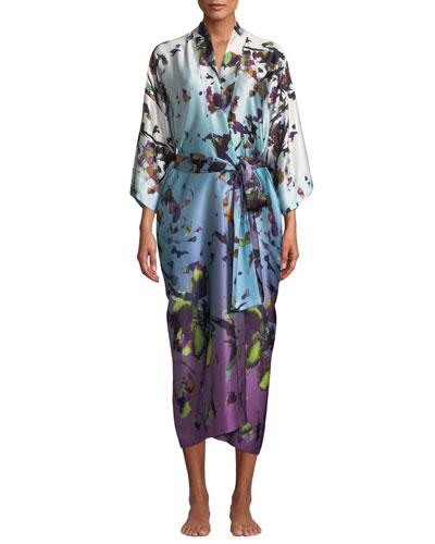 Kaleidoscope Silk Long Robe