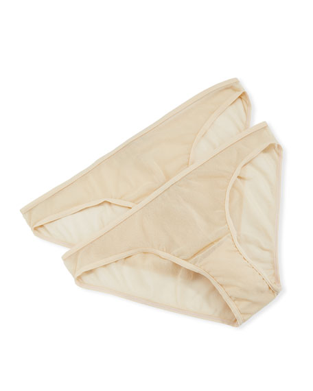 Cosabella Pants 2-Pack Soire Low-Rise Bikini Briefs, BLUSH