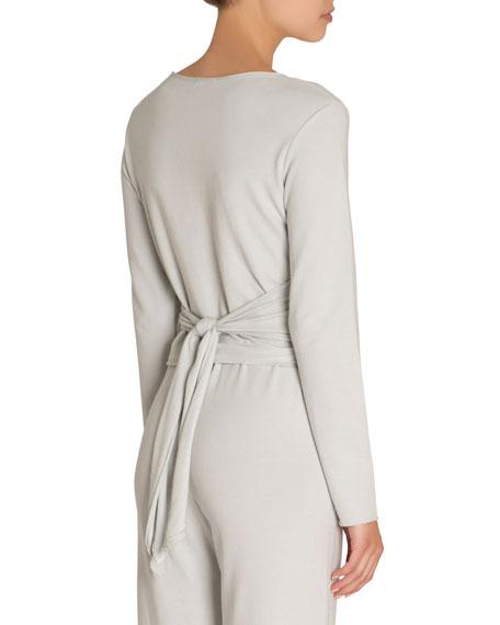 Odile Long-Sleeve Ballet Wrap Top