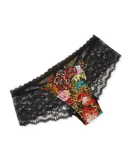 d9507216e6a9 Lise Charmel Floral & Animal-Print Lace-Back Boyshorts