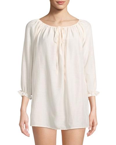Cotton Peasant Sleep Shirt