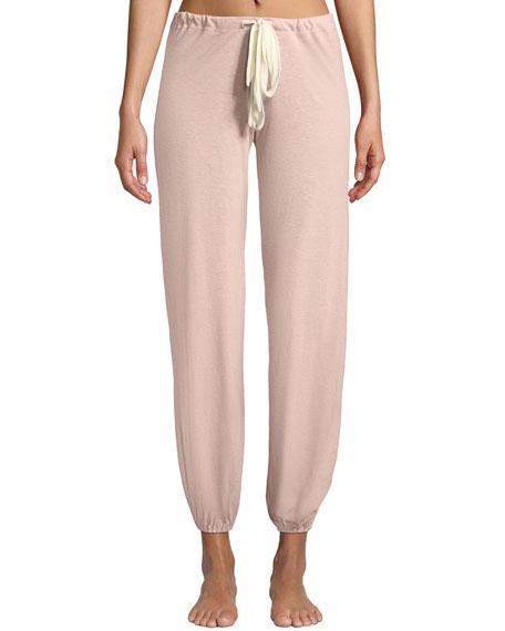Eberjey Pants Slouchy Drawstring Pants, PINK