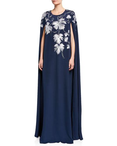 Embellished Open-Sleeve Caftan