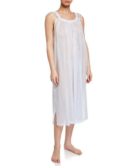 Celestine Bettina Sleeveless Nightgown with Lace Trim
