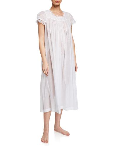Miri Scoop-Neck Cap-Sleeve Nightgown