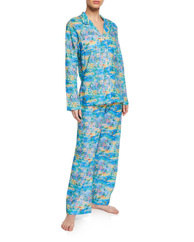 bce844600e9a Designer Pajamas   Cotton   Poplin Pajamas at Bergdorf Goodman