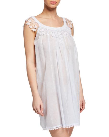 Celestine Loungewears BETTINA LACE-TRIM SLEEVELESS BABYDOLL