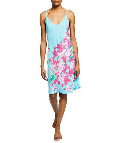 Hyacinth Floral-Print Nightgown