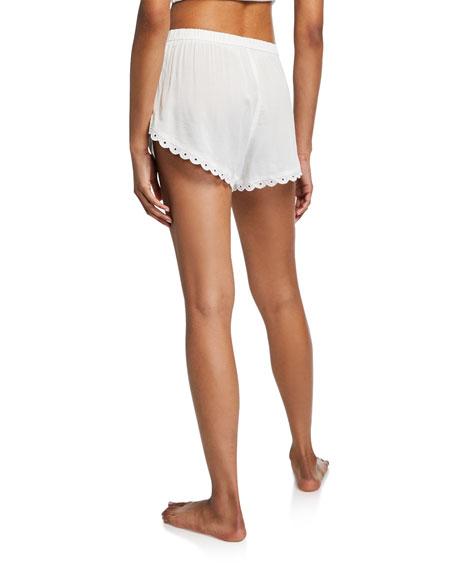 Esti Dolly Scalloped-Trim Shorts