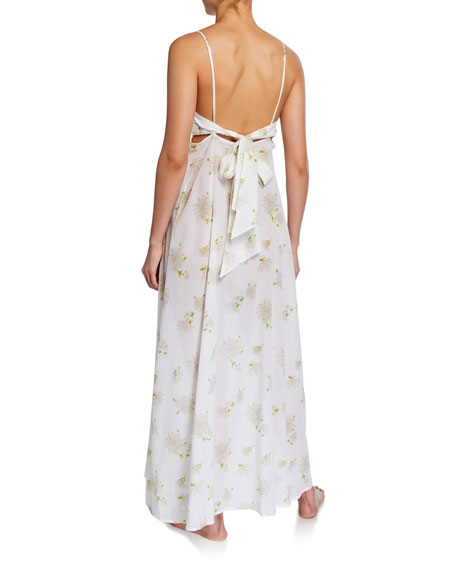Florine Floral-Pattern Long Nightgown