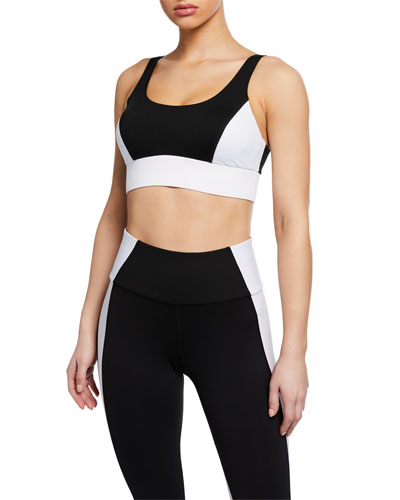 Wave Colorblock Scoop-Neck Sports Bra