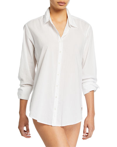 Beau Solid Poplin Lounge Shirt