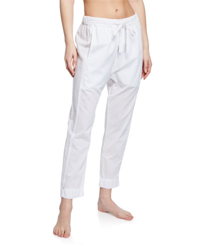 Draper Poplin Lounge Ankle Pants