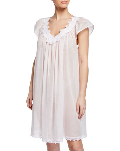 Azisa Cap-Sleeve Babydoll Nightgown