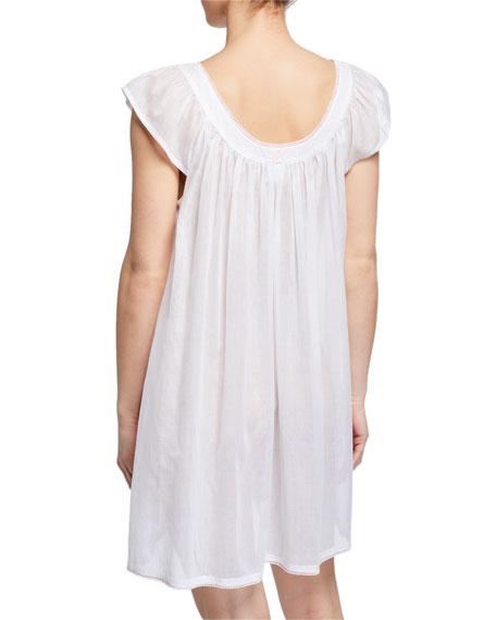 Saphira Scoop-Neck Cap-Sleeve Babydoll Nightgown