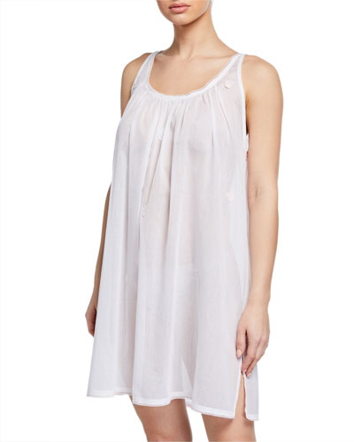 Saphira Scoop-Neck Sleeveless Babydoll Nightgown