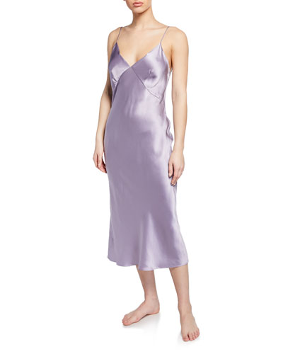 Issa Wisteria Silk Nightgown