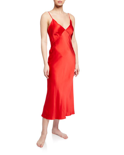 Issa Scarlet Silk Nightgown