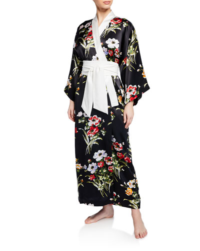 Queenie Violeta Floral Long Robe
