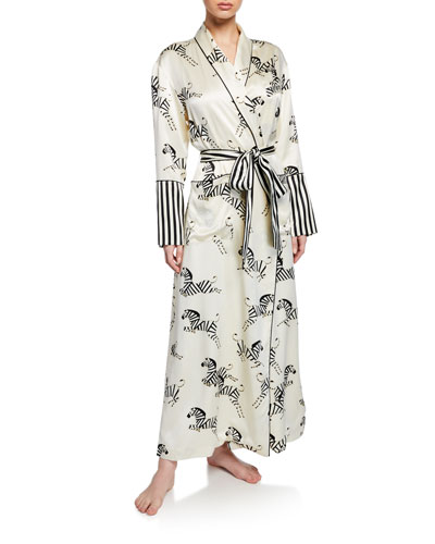 Capability Zebedee Long Silk Robe