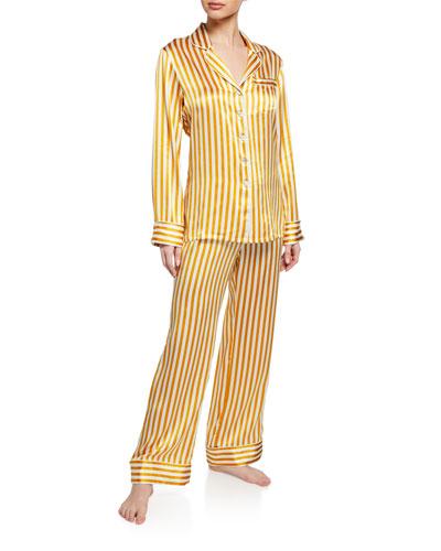 Lila Noemi Classic Silk Pajama Set
