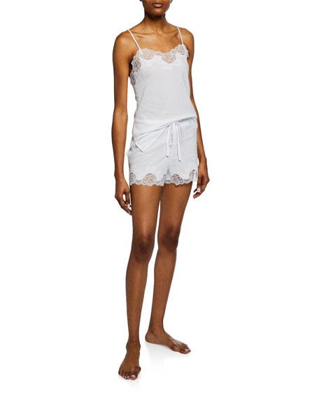 Natori Shorts LACE-TRIM CAMISOLE SHORT SET