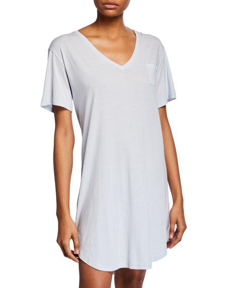 Skin T-shirts KEZIAH POCKET JERSEY SLEEPSHIRT