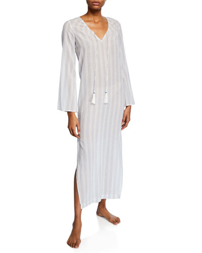 Ines Striped Cotton Caftan