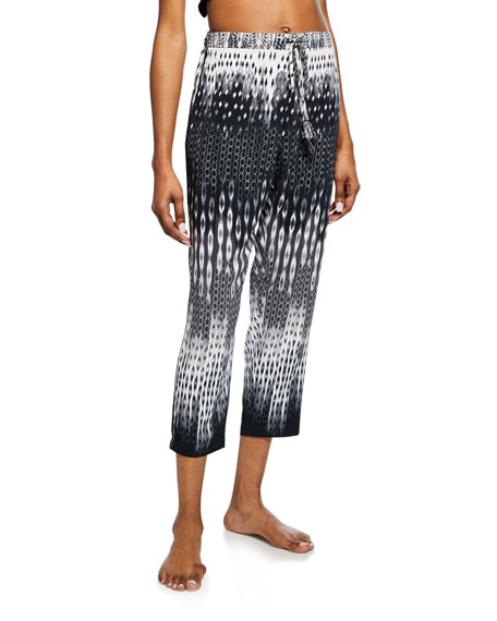 Natori Cozumel Graphic-Print Lounge Pants