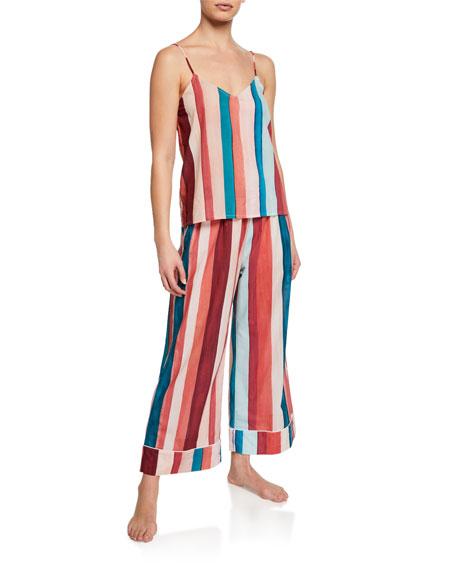 Striped Wide-Leg Lounge Pants