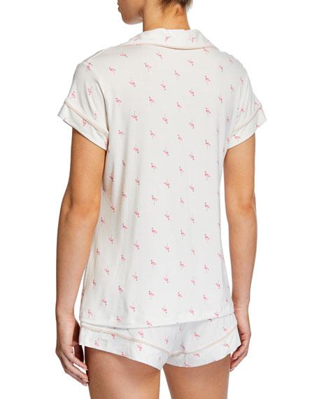 Flamingo-Print Shortie Pajama Set