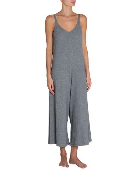 Charlie Heathered Jersey Jumpsuit