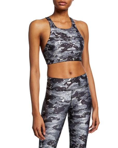 Terez Tops REVERSIBLE FOIL-PRINT SPORTS BRA