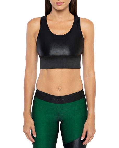 Koral Activewear Bermuda Infinity Scoop-Neck Sports Bra