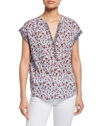 Trista Floral-Print Lounge Shirt