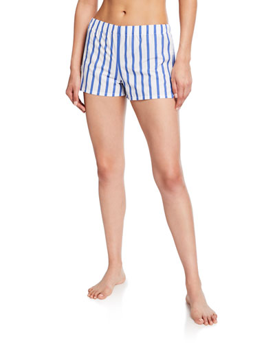 Juno Striped Pajama Shorts