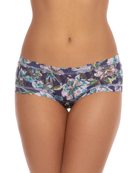 Hanky Panky Felice Floral Girlkini Lace Boy Shorts