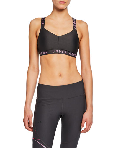 Wordmark Strappy Sportlette Sports Bra