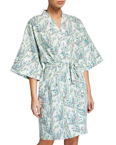 Spring Bloom Floral Short Kimono Robe