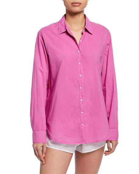 Xirena T-shirts BEAU LONG-SLEEVE LOUNGE SHIRT