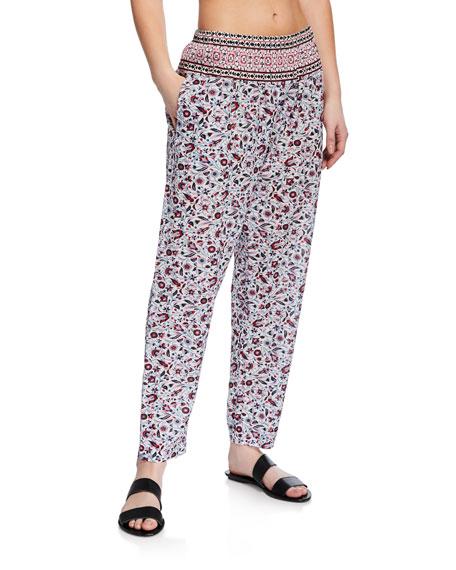 Xirena Pants PAYTON PAISLEY-PRINT LOUNGE PANTS