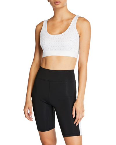 Breathe In Mesh Strappy Sports Bra