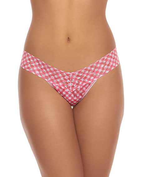 Hanky Panky Do-Si-Do Gingham Low-Rise Lace Thong