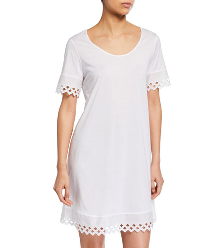 Bella Eyelet-Trim Nightgown